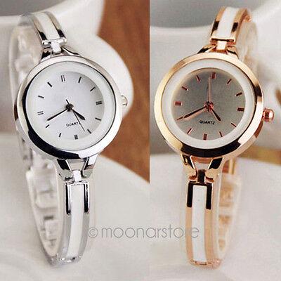 Elegant Womens Bracelet OL Wrist Watches Round Quartz Analog Bangle Watch Gift