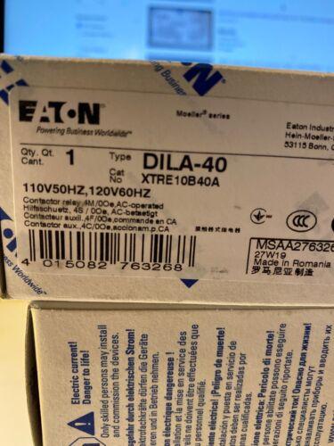 110-120V XTRE10B40A Moeller DILA40. Eaton