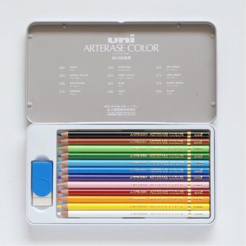 Mitsubishi Pencil Uni Arterase Color Erasable Pencil 12,24,36 Colors Set