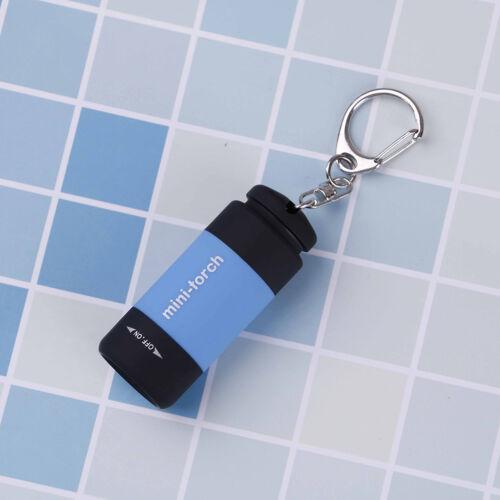 Waterproof USB rechargeable LED flashlight lamp pocket keychain Mini torch  CN
