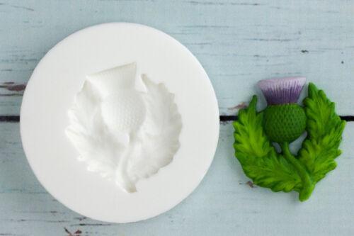 Écossais Chardon de qualité alimentaire ellam Sugarcraft M054 Moule silicone