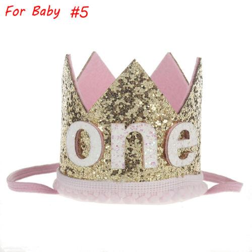 Girls Baby Party Crown Headband Gold Hair Band Festival Birthday HeadwearCool