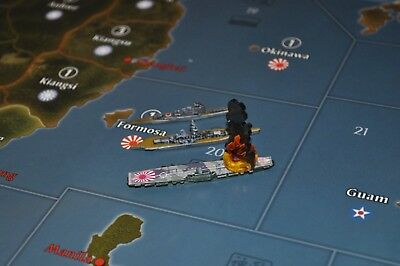 Small Dependable Performance x7 Axis & Allies Parts/pieces Flaming Wreckage Marker