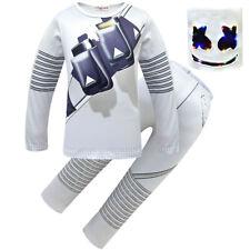 Marshmello Helmet Fancy Dress Latex Mask For Kids Cosplay Costume DJ MASK