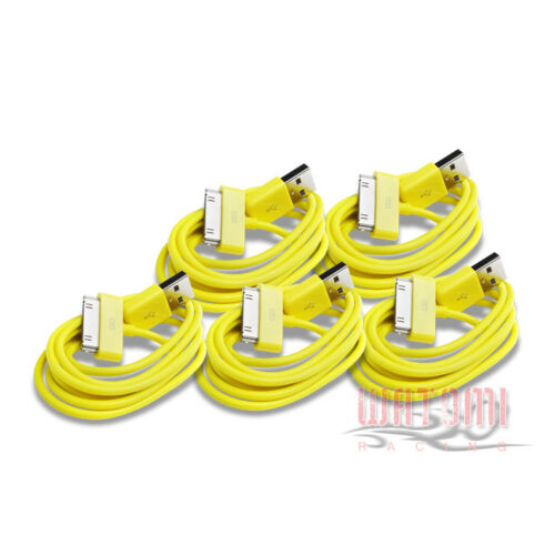 5X 3FT USB 30PIN YELLOW CABLE DATA CHARGER FOR GALAXY TAB 7.0 PLUS 8.9 10.1