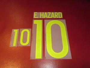 NAMESET FLOCAGE OFFICIEL HAZARD BELGIQUE HOME 2016-2018