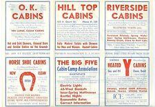 Nice 1930/1940s Tourist Cabins, Port Arthur, Ontario, Canada Map Brochure