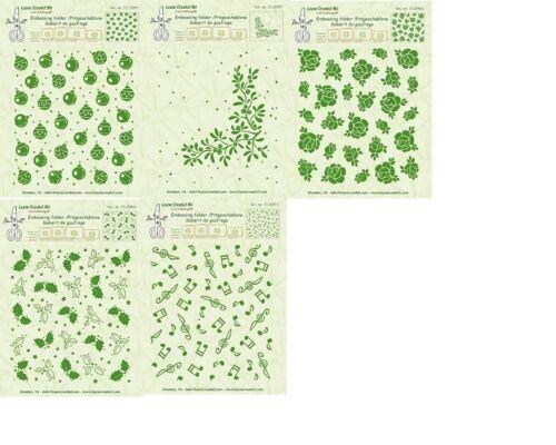 LeCrea  Embossing Foldes NEW DESIGNS Leane Creatief 14.4cm x 16cm