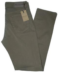 Pantalone-uomo-jeans-HOLIDAY-46-48-50-52-54-56-58-60-cotone-estivo-verde-ETAN