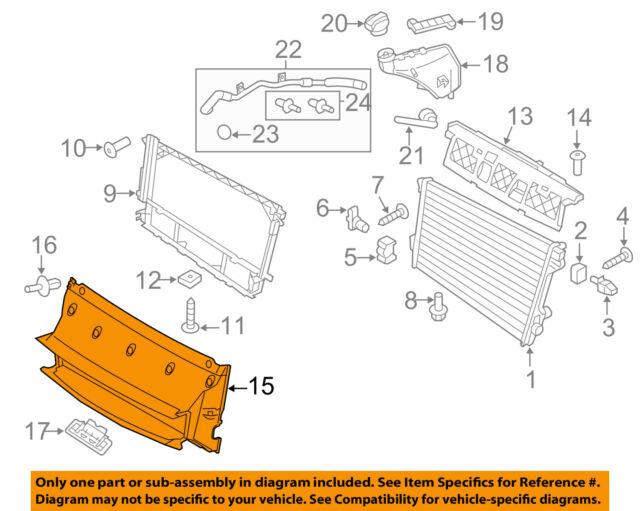 PORSCHE OEM 10-16 Panamera 4.8L Radiator-Lower Support Lower Insulator 7P0121275