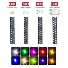 Led 0402 0603 0805 1206 Micro Mini Smd Leds 20 50 100 Piece Set Colours Selection