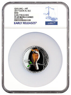 2017 Cook Islands Quilling Art Bird 1/2 Oz Pf Silver $2 Ngc Pf69 Uc Er Sku45750 South Pacific Coins & Paper Money