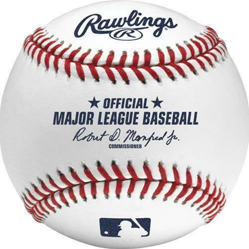 Lot of 3 New Rawlings Official Major League Baseballs MLB Game Balls Manfred