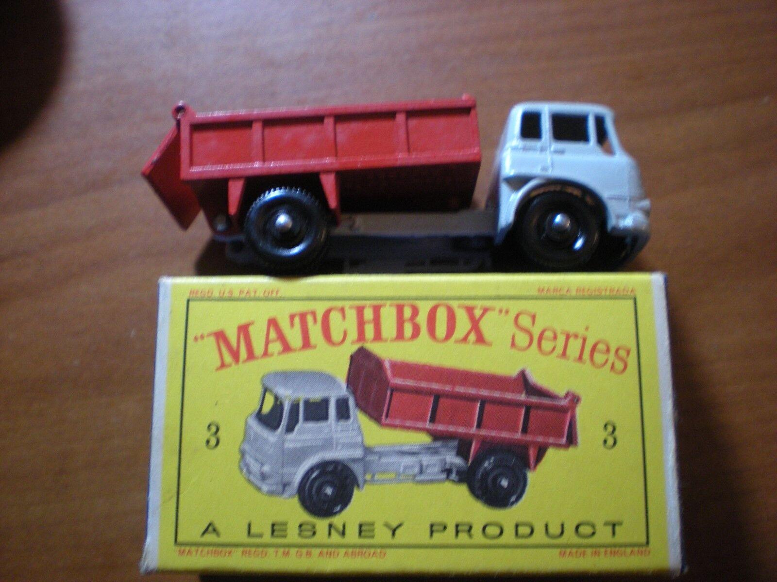 precio mas barato Nuevo Y En Caja Raro Matchbox Matchbox Matchbox  3 Bedford 7 1 2 TONELADA VOLQUETE ruedas de plástico negro por Lesney  de moda