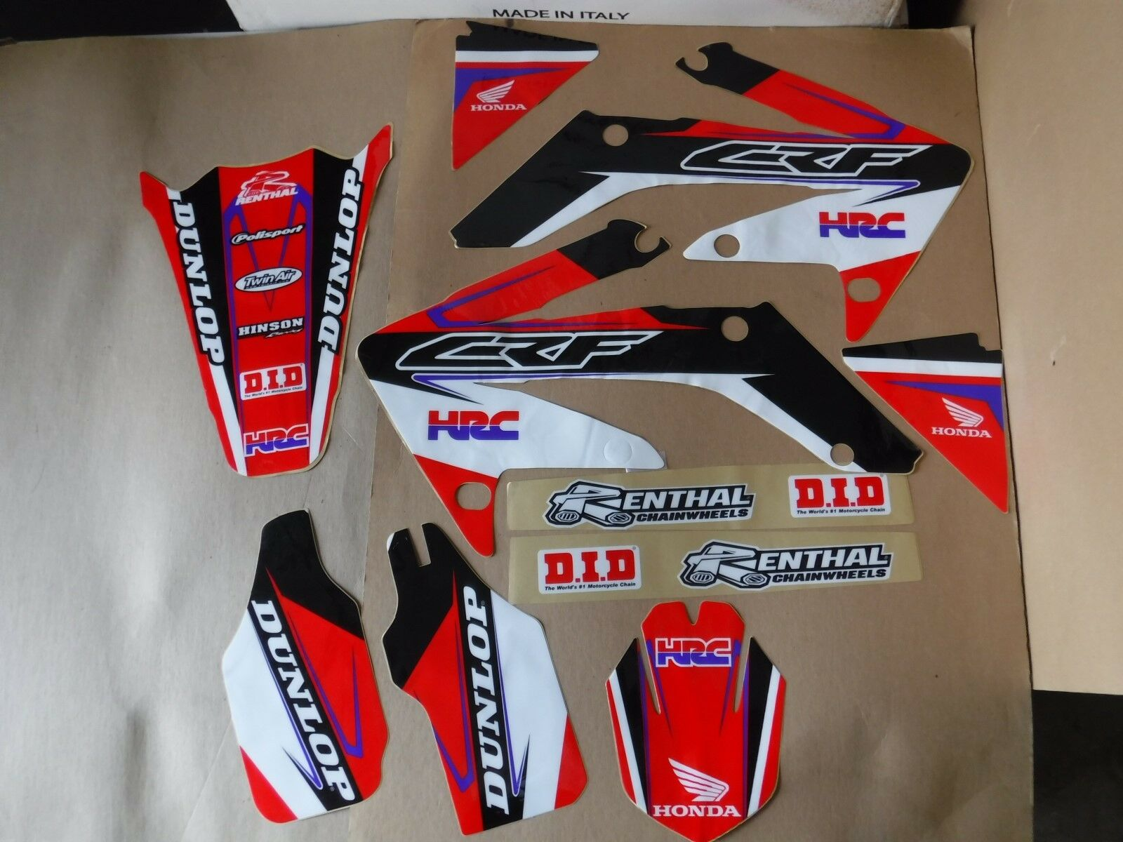 TEAM HONDA RACING  GRAPHICS  CRF250R  2004 2005 2006 2007 2008 2009  CRF250 2