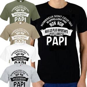 tee shirt humoristique papi nombreux sont ceux qui m 39 appellent du s au 3xl ebay. Black Bedroom Furniture Sets. Home Design Ideas