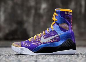 free shipping 81647 a27de Image is loading Nike-Kobe-9-IX-Elite-Showtime-034-Lakers-