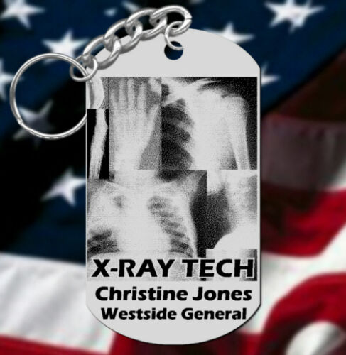 or Graduation Gift X-RAY TECH Keychain Gift Personalized with Name