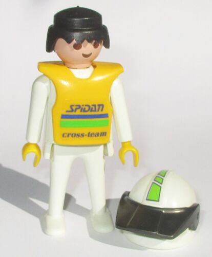 Playmobil FAHRER HELM Figur Rennfahrer Motocross 3301 Racing Spidan Motorrad