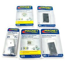 5 Pack Of Magnet Source Magnets Disc 24 Pk Block 16 Pk Latch 2 Pk Magnets