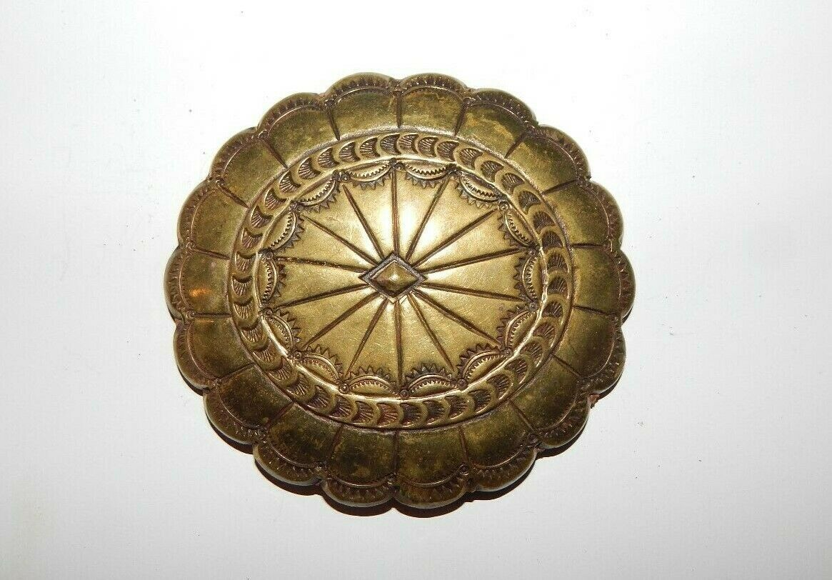2.5 X 2.5 Vintage Anchor Cinch Style Belt Buckle Round Gold Tone Buckle with Anchor in Center