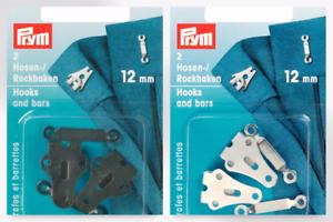 per pack of 2 Prym Trouser /& Skirt Hooks /& Bars Fasteners 266260-M
