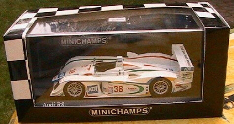 AUDI R8  38 MINICHAMPS 1 43 ALMS PETIT LE MANS 2002 JOHANSSON HERBERT 400021338