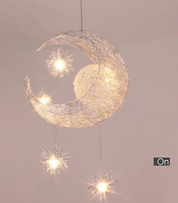 1 PC Fashion Moon and Star 5 Light Sources Children Kid Decorative Pendent Lamp