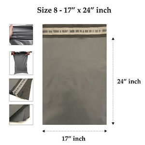 17-x-24-034-Grey-Mailing-Bags-Strong-Parcel-Postage-Plastic-Post-Poly-Self-Seal