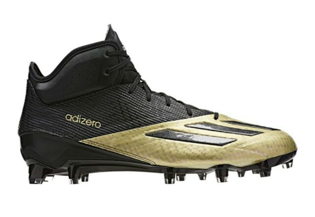 fd441eeae90 Adidas Adizero 5 Star 5.0 Mid Football Cleats Q16076 Men s US 10 Black Gold   115