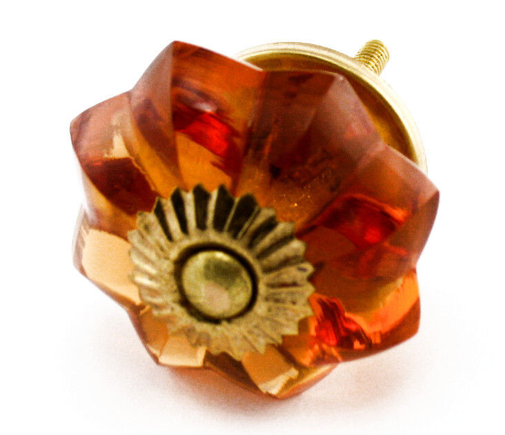 Amber Drawer Pulls, Brass Cabinet Hardware Knobs and Cupboard Handles  K28