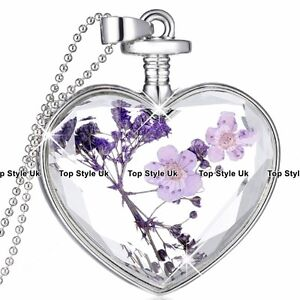 Amethyst-amp-Silver-Heart-Necklace-Christmas-Jewellery-Mum-Gifts-For-Her-Women-A1