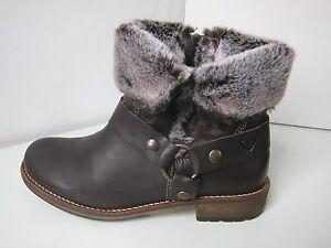 01928ffac4daaf Das Bild wird geladen Tamaris-Stiefel-Stiefelette-Fell-mocca-Gr-38-leather-