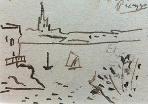 Pablo-Picasso-Original-Zeichnung-Handsigniert-signed-Drawing-Handsigned-COA
