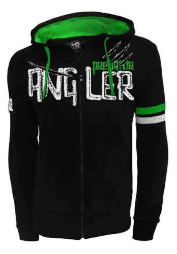 Sweatjacke mit Kapuze HOTSPOT DESIGN Zip Sweater Angler Predator schwarz