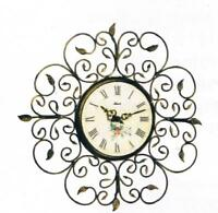 Beautiful Hermle Roses Wrought Iron Wall Clock Made In Germany