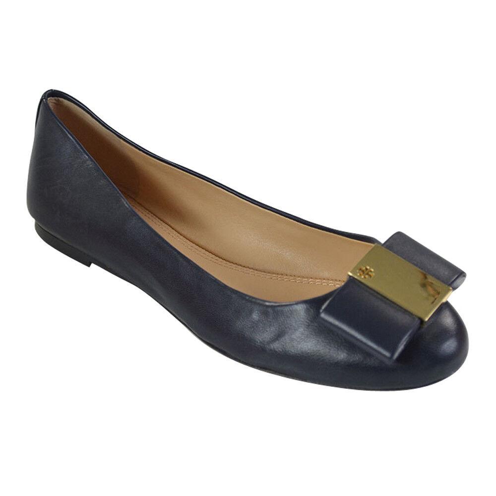 Tory Burch Burch Burch Chase Mate guante De Napa Ballet Zapatos sin Taco Sin Tory azul marino talla 7  promociones