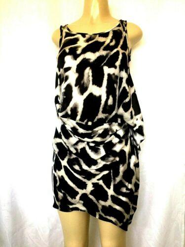 Plein Sud Silk Mini Dress Animal Print Two Piece S
