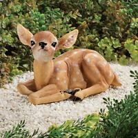 Baby Fawn Deer Scuplture Garden Figurine Statue Reindeer Lawn Art Yard Decor