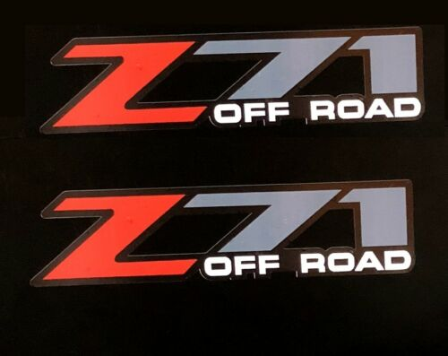 Z71 Off-Road Decals Set of 2 For 2001-2006 GMC Sierra Chevy Silverado 4x4