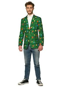 Suitmeister-Christmas-Green-Tree-Men-039-s-Blazer-Size-XL-US48-w-defect