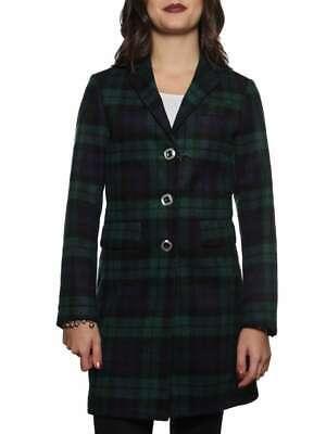 AFD43 A.F.F. COAT AFD43 TARTAN BLU VERDE cappotto giacca invernale donna   eBay