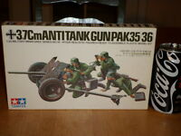 Ww2, German - 3.7cm, Anti-tank Gun (pak35/36), Plastic Model Kit, Scale: 1/35