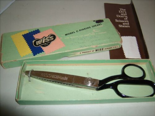 "Vintage Wiss Model C Pinking Shears in Box 9"" 1971"