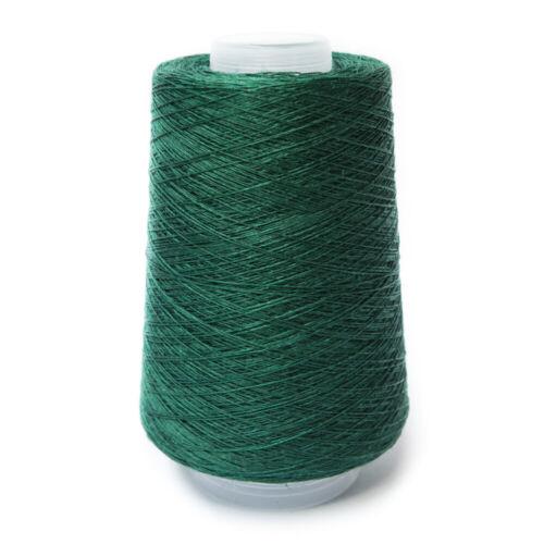 200G conos 100/% Lino 1//10NM Fino Hilo Oscuro Verde Jade