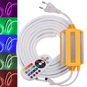 RGB 5050 LED Strip Neon Rope Lights Waterproof 220V 240V Garden Outdoor Lighting