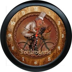 Personalized French Chef Boulangerie Wall Clock For