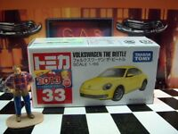 Tomica 33 Volkswagen The Beetle 1/66 Scale In Box