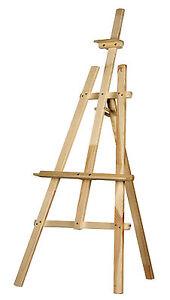 STUDIO-EASEL-5ft-1500MM-HIGH-ARTIST-ART-CRAFT-DISPLAY-PINE-WOOD-Wooden