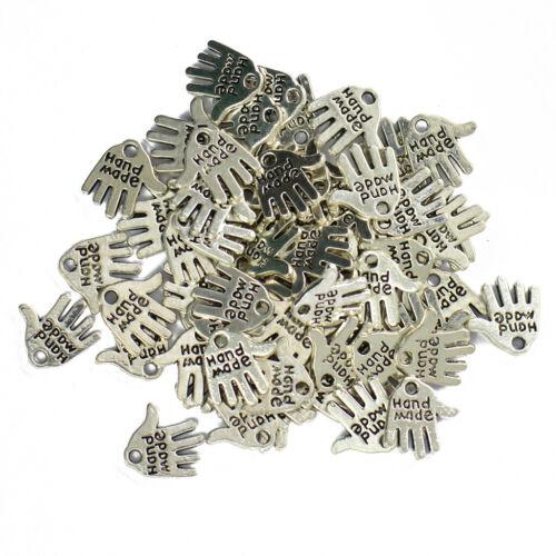 50pcs Bettelarmband Charms Anhänger Hand Gemacht Schmuckherstellung Perlen